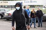 St Johnstone v Rangers…11.09.21  McDiarmid Park    SPFL<br />Efe Ambrose arrives ahead of today's game against Rangers<br />Picture by Graeme Hart.<br />Copyright Perthshire Picture Agency<br />Tel: 01738 623350  Mobile: 07990 594431