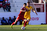 Tamer Seyam of Palestine (L) competes for the ball with Apostolos Giannou of Australia (R) during the AFC Asian Cup UAE 2019 Group B match between Palestine (PLE) and Australia (AUS) at Rashid Stadium on 11 January 2019 in Dubai, United Arab Emirates. Photo by Marcio Rodrigo Machado / Power Sport Images