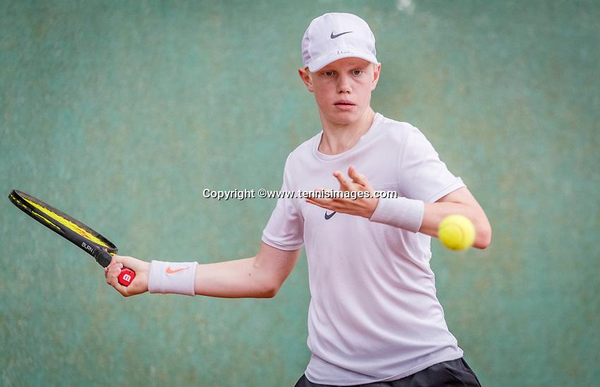 Hilversum, Netherlands, August 8, 2018, National Junior Championships, NJK, Lars Wagenaar (NED)<br /> Photo: Tennisimages/Henk Koster