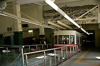 Funicular railway at Tunel, Istanbul, Turkey, which was updated and modernised as shown in 2007