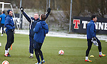 Anestis Argyriou stunned that Ally McCoist has put him out in pig in the middle games at training, Kris Boyd cracks up