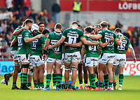 9th October 2021; Brentford Community Stadium, Brentford, London; Gallagher Premiership Rugby, London Irish versus Leicester Tigers; London Irish players huddle up