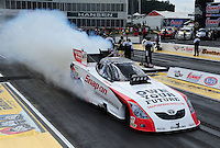 May 6, 2012; Commerce, GA, USA: NHRA funny car driver Cruz Pedregon during the Southern Nationals at Atlanta Dragway. Mandatory Credit: Mark J. Rebilas-