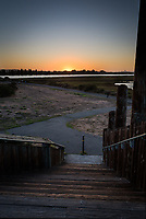 Sunset from the top step of the observation tower at the Martin Luther King Jr. Regional Shoreline