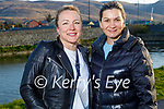 Enjoying a stroll on the canal in Blennerville on Monday, l to r: Ieva Breen and Iatco Maria.