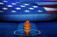 First Lady Michelle Obama speaks to the Democratic National Convention at Time Warner Cable Arena in Charlotte, N.C
