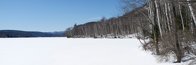 Thirteenth Lake in the Siamese Ponds Wilderness Area of the Adirondacks, located near the towns of North Creek, North River, and Indian Lake in New York.