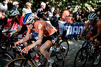 Anna van der Breggen (NED/SD Worx) up the Moskesstraat<br /> <br /> Women Elite - Road Race (WC)<br /> from Antwerp to Leuven (158km)<br /> <br /> UCI Road World Championships - Flanders Belgium 2021<br /> <br /> ©kramon
