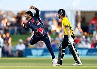 Qais Ahmad bowls for Kent during Kent Spitfires vs Gloucestershire, Vitality Blast T20 Cricket at The Spitfire Ground on 13th June 2021