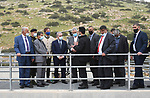 Palestinian Prime Minister Mohammad Ishtayeh, opens a wastewater treatment plant, Tayasir and the European Forest, laying the foundation stone for the Kerdala treatment plant, and launched a number of water and sanitation projects within the government plan to develop and develop the Jordan Valley in Tubas in the West Bank City on March 24, 2021. Photo by Prime Minister Office