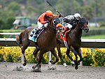 Carmichael and Martin Pedroza win an allowance race at Del Mar Thoroughbred Club in Del Mar, CA.  July 24, 2011
