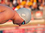 Swimmer waits for the starting gun.