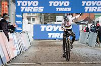 cx world champion Ceylin del Carmen Alvarado (NED/Alpecin-Fenix) wins the 2021 UCI CX World Cup in Overijse (BEL)<br /> <br /> Vlaamse Druivencross<br /> <br /> Women's Race<br /> <br /> ©kramon