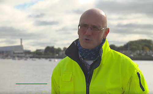 Lar Joye, Heritage Director of Dublin Port. Photo: RTE/Screenshot