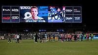 SAN JOSE, CA - AUGUST 17: San Jose Earthquakes players after a game between San Jose Earthquakes and Minnesota United FC at PayPal Park on August 17, 2021 in San Jose, California.