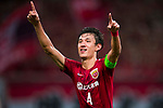 Wang Schenchao of Shanghai SIPG (CHN) celebrates after scoring his team's second goal against Guangzhou Evergrande (CHN) during their AFC Champions League 2017 Quarter-Finals match at the Shanghai Stadium on 22 August 2017 in Shanghai, China. Photo by Victor Fraile / Power Sport Images