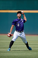 Renzo Gonzalez (2) of Doral Academy Charter School in Tampa, FL during the Perfect Game National Showcase at Hoover Metropolitan Stadium on June 19, 2020 in Hoover, Alabama. (Mike Janes/Four Seam Images)