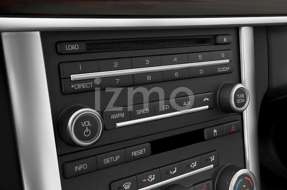 Stereo audio system close up detail view of a 2010 Lincoln MKS FWD