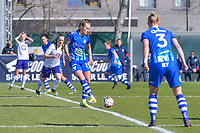 Lobke Loonen (19) of AA Gent starting the female soccer game between  AA Gent Ladies and RSC Anderlecht on the 17th matchday of the 2020 - 2021 season of Belgian Scooore Womens Super League , saturday 20 th of March 2021 in Oostakker , Belgium . PHOTO SPORTPIX.BE | SPP | STIJN AUDOOREN