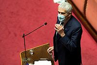 The senator Pier Ferdinando Casini during the Italian Premier's  information at the Senate about the government crisis..<br /> Rome(Italy), January 19th 2021<br /> Photo Pool Alessandra Benedetti/Insidefoto