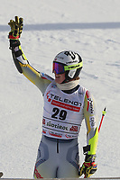 20th December 2020; Alta Badia, South-Tyrol, Italy; International Ski Federation World Cup Alpine Skiing, Giant Slalom;  Atle Lie McGrath (NOR) celebrates after his run