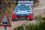 Kevin Abbring/Sebastian Marshall (Hyundai i20 WRC) during the World Rally Car RACC Catalunya Costa Dourada 2016 / Rally Spain, in Catalunya, Spain. October 15, 2016. (ALTERPHOTOS/Rodrigo Jimenez)