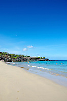 Looking toward the southern end of Hapuna Beach, along the Big Island's Kohala Coast. This white sand beach has been rated one of the best beaches in the world time and time again.