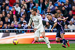 Gareth Bale of Real Madrid (L) is followed by Jose Ignacio Martinez Garcia, Nacho, of Real Valladolid during the La Liga 2018-19 match between Real Madrid and Real Valladolid at Estadio Santiago Bernabeu on November 03 2018 in Madrid, Spain. Photo by Diego Souto / Power Sport Images