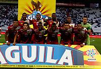 MANIZALES-COLOMBIA, 30-03-2019: Los jugadores de Rionegro Águilas Doradas, posan para una foto antes de partido de la fecha 12 entre Once Caldas y Rionegro Águilas Doradas, por la Liga de Aguila I 2019 en el estadio Palogrande en la ciudad de Manizales. / The players of Rionegro Aguilas Doradas, pose for a photo prior a match of the 12th date between Once Caldas and Rionegro Aguilas Doradas, for the Aguila Leguaje I 2019 at the Palogrande stadium in Manizales city. Photo: VizzorImage  / Santiago Osorio / Cont.