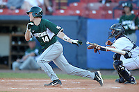 Michigan State Spartans Brandon Eckerle #14 during a game vs the Akron Zips at Chain of Lakes Park in Winter Haven, Florida;  March 12, 2011.  Michigan State defeated Akron 5-1.  Photo By Mike Janes/Four Seam Images