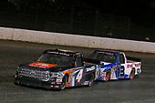 #4: Todd Gilliland, Kyle Busch Motorsports, Toyota Tundra JBL/SiriusXM and #13: Myatt Snider, ThorSport Racing, Ford F-150 Liberty Tax