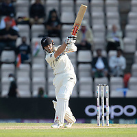 Kane Williamson, New Zealand pulls square of the wicket on his way to Ann undefeated half century during India vs New Zealand, ICC World Test Championship Final Cricket at The Hampshire Bowl on 23rd June 2021