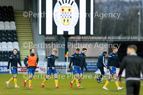 St Mirren v St Johnstone…19.12.20   St Mirren Park      SPFL<br />The saints players leave the pitch after the warm-up<br />Picture by Graeme Hart.<br />Copyright Perthshire Picture Agency<br />Tel: 01738 623350  Mobile: 07990 594431