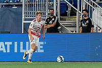 FOXBOROUGH, MA - AUGUST 21: Scott Thomsen #3 of Richmond Kickers dribbles down the wing during a game between Richmond Kickers and New England Revolution II at Gillette Stadium on August 21, 2020 in Foxborough, Massachusetts.