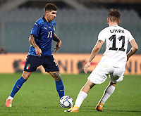 FBL- Friendly  football match Italy vs Estonia at the Artemio Franchi stadium in Florence on November 11, 2020.<br /> Italy's Giovanni Di Lorenzo (l) in action with Estonia's Frank Liivak (r) during the friendly football match between Italy snd Estonia at the Artemio Franchi stadium in Florence on November 11, 2020. <br /> UPDATE IMAGES PRESS/Isabella Bonotto