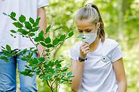 MADRID, SPAIN-July 14:  **NO SPAIN** Crown Princess Leonor and Princess Sofia on Spain participate in One Tree For Europe Program at Hayedo de Montejo on July 14, 2021 in Montejo de la Sierra, Spain. <br /> CAP/MPI/RJO<br /> ©RJO/MPI/Capital Pictures