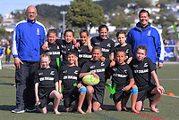 The New Zealand (East Coast) team poses for a team photo on day one of the 2019 Air NZ Rippa Rugby Championship at Wakefield Park in Wellington, New Zealand on Monday, 26 August 2019. Photo: Dave Lintott / lintottphoto.co.nz