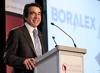 Montreal  (Quebec) CANADA - Nov 14 2011 - Patrick Lemaire, President and CEO of Boralex, at the Canadian Club of Montreal's podium