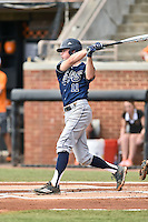 UC Irvine Anteaters shortstop John Brontsema (11) swings at a pitch during game one of a double header against the Tennessee Volunteers at Lindsey Nelson Stadium on March 12, 2016 in Knoxville, Tennessee. The Volunteers defeated the Anteaters 14-4. (Tony Farlow/Four Seam Images)