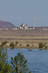 Hanford Site, Columbia River, Deactivated nuclear B reactor, First plutonium production reactor in world, National Historic Landmark, Department of Energy, Washington State,