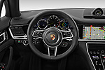 Car pictures of steering wheel view of a 2019 Porsche Panamera 4-E-Hybrid 5 Door Hatchback Steering Wheel