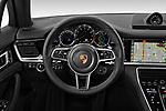 Car pictures of steering wheel view of a 2019 Porsche Panamera 4-E-Hybrid 5 Door Hatchback Steering Wheel