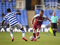 21st July 2021; Madejski Stadium, Reading, Berkshire, England; Pre Season Friendly Football, Reading versus West Ham United; Aaron Cresswell of West Ham crosses into the penalty area