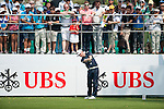 Matt Ford of England hits the ball during Hong Kong Open golf tournament at the Fanling golf course on 24 October 2015 in Hong Kong, China. Photo by Xaume Olleros / Power Sport Images