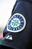 21 June 2011: A Seattle Mariners patch adorns the sleeve of a Majestic jersey prior to a game against the Washington Nationals at Nationals Park in Washington, District of Columbia. The Nationals rallied from a 5-1 deficit, scoring 5 runs in the bottom of the 9th, to defeat the Mariners 6-5 in inter-league play. Mandatory Credit: Ed Wolfstein Photo
