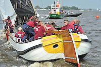 SKUTSJESILEN: SKS2013: SKS kampioenschap 2013, schipper Huizum, Lodewijk Meeter, ©foto Martin de Jong
