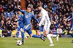 Real Madrid's Alvaro Morata and Celta de Vigo's Gustavo Daniel Cabral during Copa del Rey match between Real Madrid and Celta de Vigo at Santiago Bernabeu Stadium in Madrid, Spain. January 18, 2017. (ALTERPHOTOS/BorjaB.Hojas)