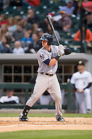 Ben Gamel (6) of the Scranton\Wilkes-Barre RailRiders at bat against the Charlotte Knights at BB&T BallPark on May 1, 2015 in Charlotte, North Carolina.  The RailRiders defeated the Knights 5-4.  (Brian Westerholt/Four Seam Images)