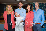 The christening of Orla O'Donnell in the Ashe Hotel on Saturday, l to r: Grainne Bennett (GM), parents Gavin O'Donnell and Sorcha Toomey and John Harrington (GF).