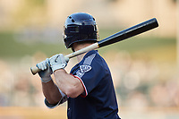 Cooper Hummel (5) of the Nashville Sounds at bat against the Charlotte Knights at Truist Field on June 4, 2021 in Charlotte, North Carolina. (Brian Westerholt/Four Seam Images)